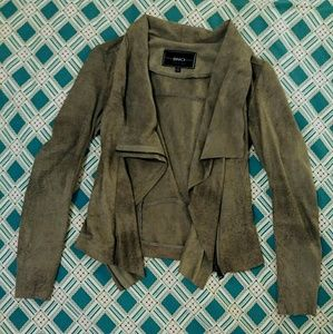 BNCI by Blanc Noir faux suede gray moto jacket